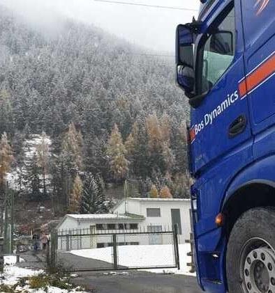 Winters tafereel in Oostenrijk